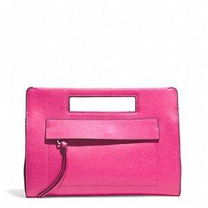 NWOT COACH F51534 Saffiano Leather Pocket Clutch